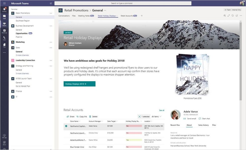 SharePoint Site in Microsoft Teams